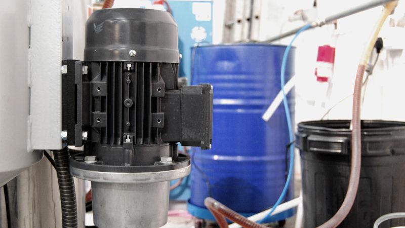 Auto Rim Machine Pump close up.